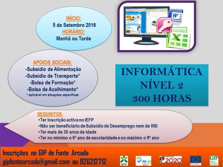 Curso subsidiado de Informática (Nível 2) em Penafiel